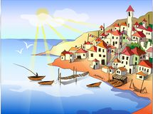Vector landscape illustration Stock Images
