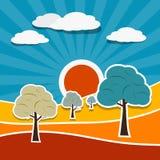 Vector Landscape Illustration Stock Images