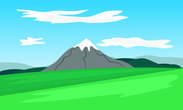 Vector landscape with mountain Stock Images