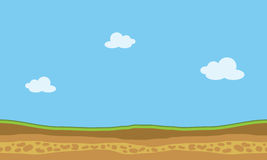 Vector landscape nature game backgrounds. Of silhouette Stock Photography