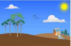 Vector landscape scenic view. Stock Photography