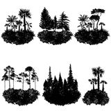 Vector landscape with trees Stock Photos