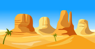 Vector landscape of wild west. Stock Images