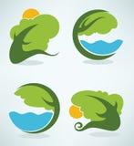 Vector landscapes symbols Stock Image