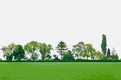 Vector landschap Royalty-vrije Stock Afbeeldingen