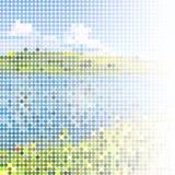 Vector landschapsachtergrond Stock Foto