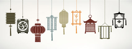 Vector lanterns Royalty Free Stock Images