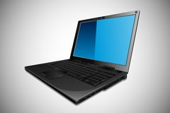 Vector Laptop. Easy to edit vector illustration of laptop with blank screen vector illustration