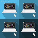 Vector Laptop for business Stock Images