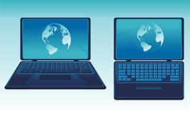 Vector laptop illustration Royalty Free Stock Photo