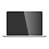 Vector Laptop isolated on white background Stock Photos