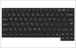 Vector laptop keyboard Stock Photography