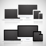 Vector laptop, tablet, monitor and phone Royalty Free Stock Photos