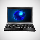 Vector laptop  on white background Stock Photos