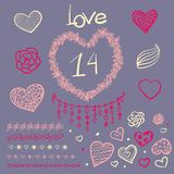 Vector Large Creative Set Of Valentines Day Stock Images