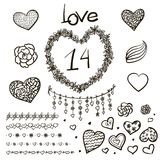 Vector large creative set of Valentines day Royalty Free Stock Images