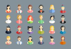 Vector large set of avatars Royalty Free Stock Image