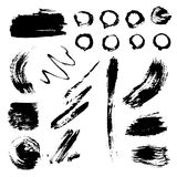 Different grunge brush strokes ink art texture dirty creative grungy  Stock Photography
