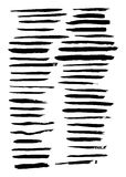 Vector large set of 45 different grunge hand paint brush strokes Stock Photography