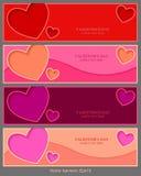 Vector las banderas, día de tarjetas del día de San Valentín, fondo del vector, sitio web Fotografía de archivo libre de regalías