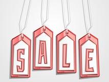 Vector las etiquetas de la venta Fotografía de archivo libre de regalías