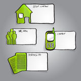 Vector las etiquetas infographic verdes abstractas con los iconos Foto de archivo