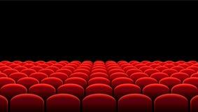 Vector las filas del cine o del teatro de asientos rojos libre illustration