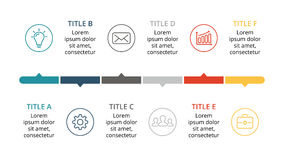 Vector las flechas infographic, carta del diagrama, presentación del gráfico Plantilla del negocio con las opciones, piezas, paso Fotos de archivo