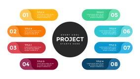 Vector las flechas infographic, diagrama del ciclo, etiquetas gráfico, carta del círculo de la presentación de las etiquetas engo Foto de archivo