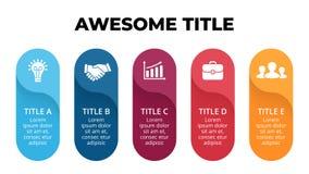 Vector las flechas infographic, diagrama del ciclo, etiquetas gráfico, carta del círculo de la presentación de las etiquetas engo Imagenes de archivo