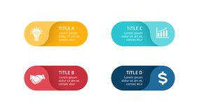 Vector las flechas infographic, diagrama del ciclo, etiquetas gráfico, carta del círculo de la presentación de las etiquetas engo Foto de archivo libre de regalías
