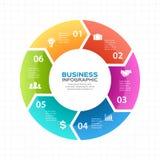 Vector las flechas infographic, diagrama, gráfico, presentación, carta del círculo Concepto del ciclo de negocio con 6 opciones,  libre illustration