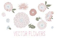 Vector las flores Fotos de archivo