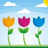 Vector las flores Imágenes de archivo libres de regalías