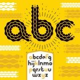 Vector las letras modernas minúsculas del alfabeto del disco, sistema del ABC Fuente intrépida redondeada, mecanografiado para el libre illustration