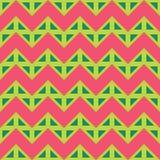 Vector las líneas coloridas inconsútiles modernas modelo, rosa del color, extracto del galón de la geometría del verde Imágenes de archivo libres de regalías
