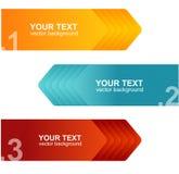 Vector las plantillas del discurso para la naranja del texto, azules Imagen de archivo