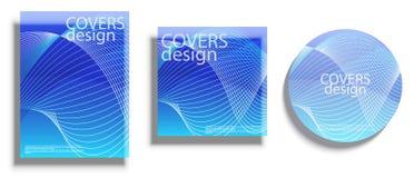 Vector las plantillas del diseño para las cubiertas, cubiertas del vector diseñan Fotos de archivo libres de regalías