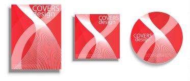 Vector las plantillas del diseño para las cubiertas, cubiertas del vector diseñan Imagenes de archivo