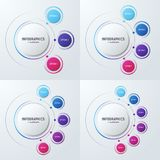 Vector las plantillas infographic de la carta del círculo para las presentaciones, adv libre illustration