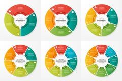 Vector las plantillas infographic de la carta del círculo para las presentaciones, adv ilustración del vector