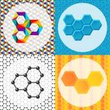 Vector las tecnologías modernas geométricas del negocio del hexágono del folleto de tarjetas del diseño de las banderas abstracta Imagen de archivo libre de regalías