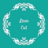 Vector laser cut. Floral ornament. Vector laser cut with floral ornament with format eps10 Stock Image