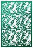 Vector Laser cut panel. Abstract Pattern with branches of leaves. Template for decorative panel. Stock vector Royalty Free Stock Photos