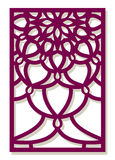 Vector Laser cut panel. Abstract Pattern template for decorative Stock Photo