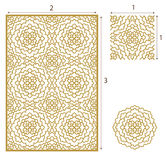 Vector Laser cut panel, the seamless pattern for decorative. Panel. Image suitable for engraving, printing, plotter cutting, laser cutting paper, wood, metal Stock Photos
