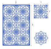 Vector Laser cut panel, the seamless pattern for decorative pane Royalty Free Stock Photography