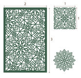 Vector Laser cut panel, the seamless pattern for decorative pane Royalty Free Stock Photos