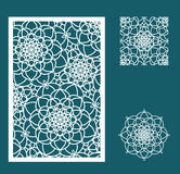 Vector Laser cut panel, the seamless pattern for decorative pane Royalty Free Stock Images