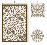 Vector Laser cut panel, the seamless pattern for decorative pane. L. Image suitable for engraving, printing, plotter cutting, laser cutting paper, wood, metal Royalty Free Stock Images
